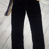 Вельветы на флисе. для девочек 128-134-140,158 темно-синие (почти черные)