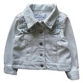 Young dimension джинсовая куртка, пиджак с кружевом на 4-5 лет