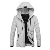 Мужская куртка - Мужская осенняя куртка, на манжетах, с капюшоном, на молнии, р. 44-46