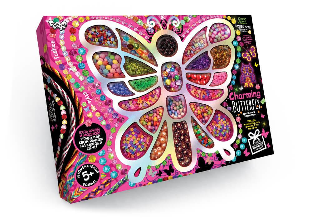 Набор для творчества с бисером charming butterfly danko toys chb-01-01 фото №1
