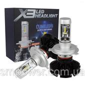 комплект автоламп led X3 lumileds zes, H4, 6000LM, 50W, 9-32V