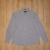 Рубашка в полоску из плотного коттона размер М Marks & Spencer