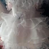 Детское нарядное платье Снежинка, возраст один - три года опт и розница