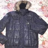 Зимняя теплая,куртка пуховик Smog с натуральным мехом