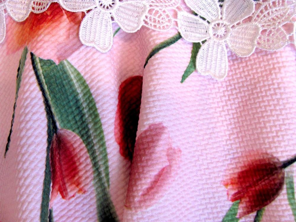Р. 128-146 распродажа! детское платье с тюльпанами фото №3
