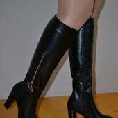 Сапоги люкс качества инд пошив(на любую голень) каблук 4,6,8,9 см или танкетка