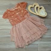 Платье нарядное M&S (2-3г)