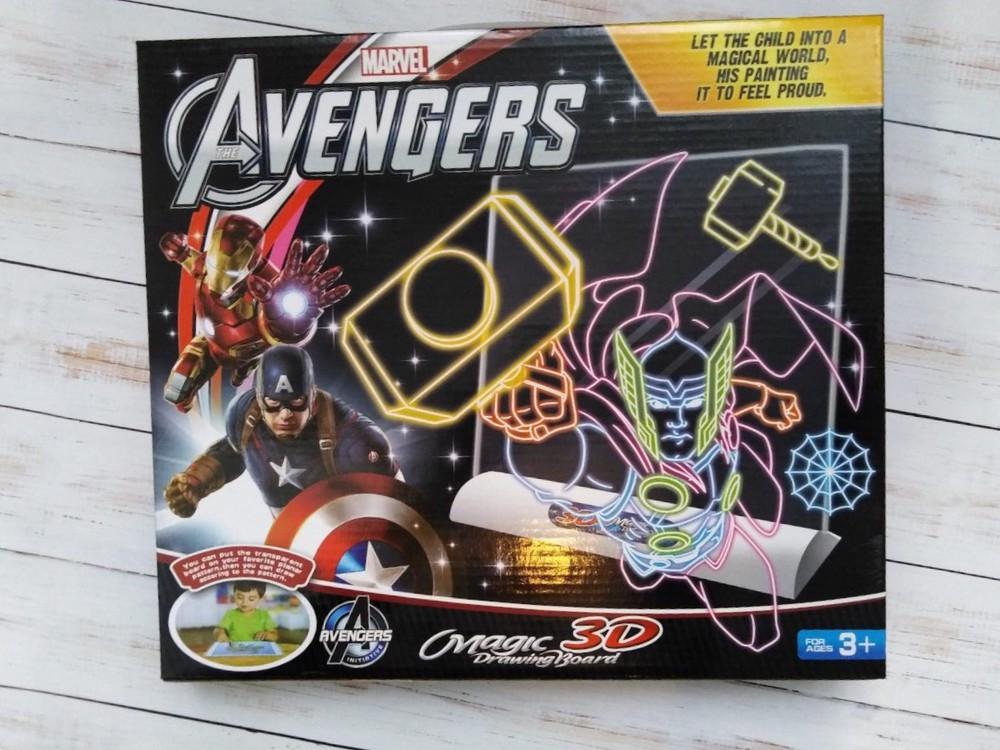 3д доска для рисования, magic drawing board avengers  фото №1