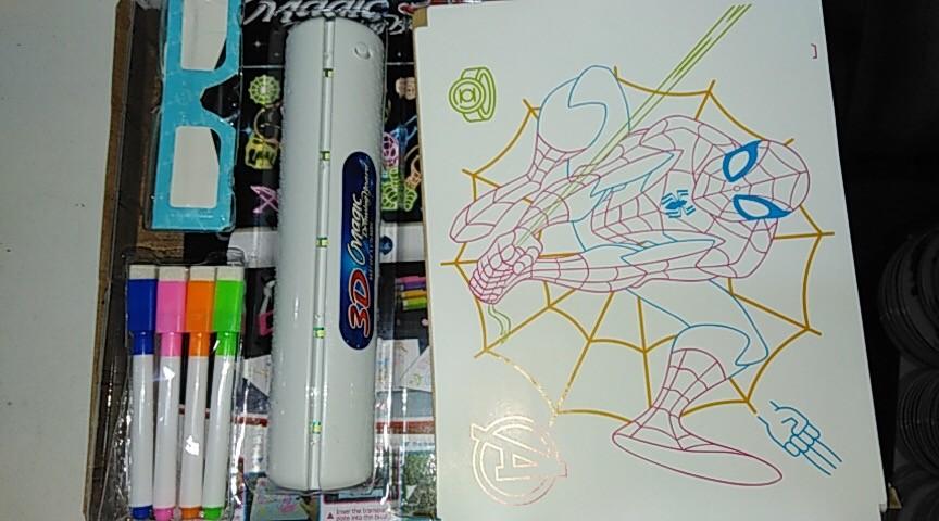 3д доска для рисования, magic drawing board avengers  фото №2