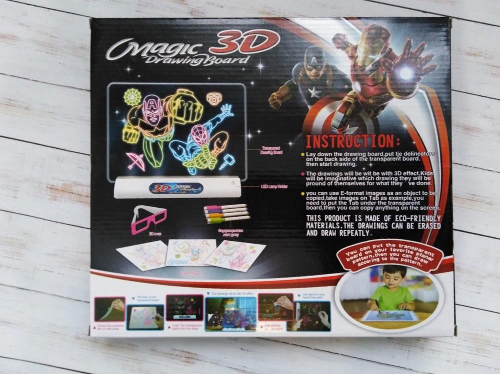 3д доска для рисования, magic drawing board avengers  фото №3