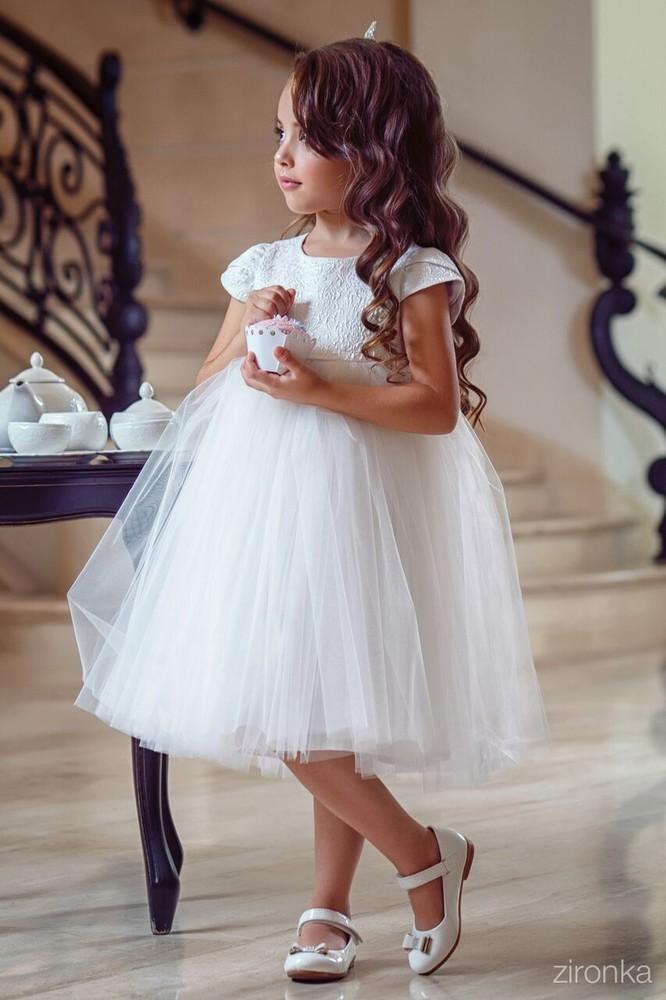 Біле пишне нарядне плаття для дівчинки р. 98 4f759e96ccf43