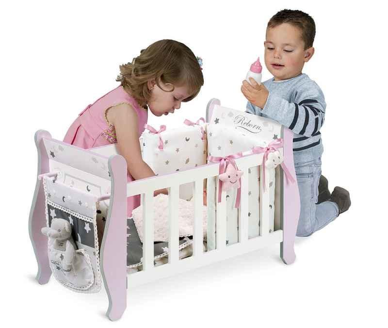 Кровать манеж decuevas 54724 игрушка деревянная для куклы фото №1