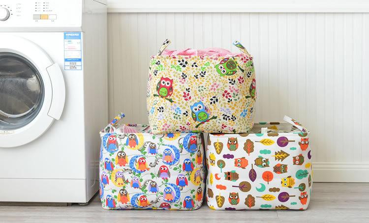 Корзина для игрушек. большая сова. 3 варианта расцветок. фото №1