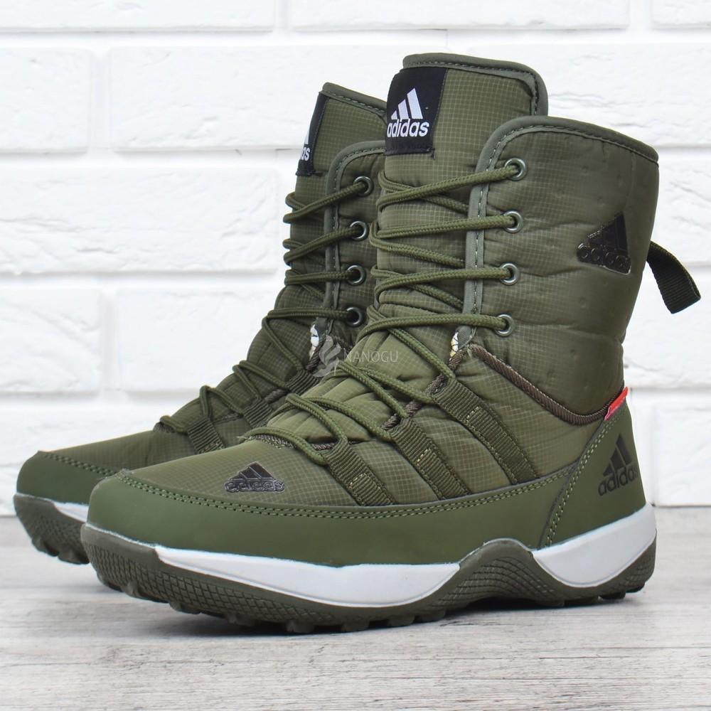 Дутики adidas terrex хаки женские спортивные ботинки на шнуровке фото №1