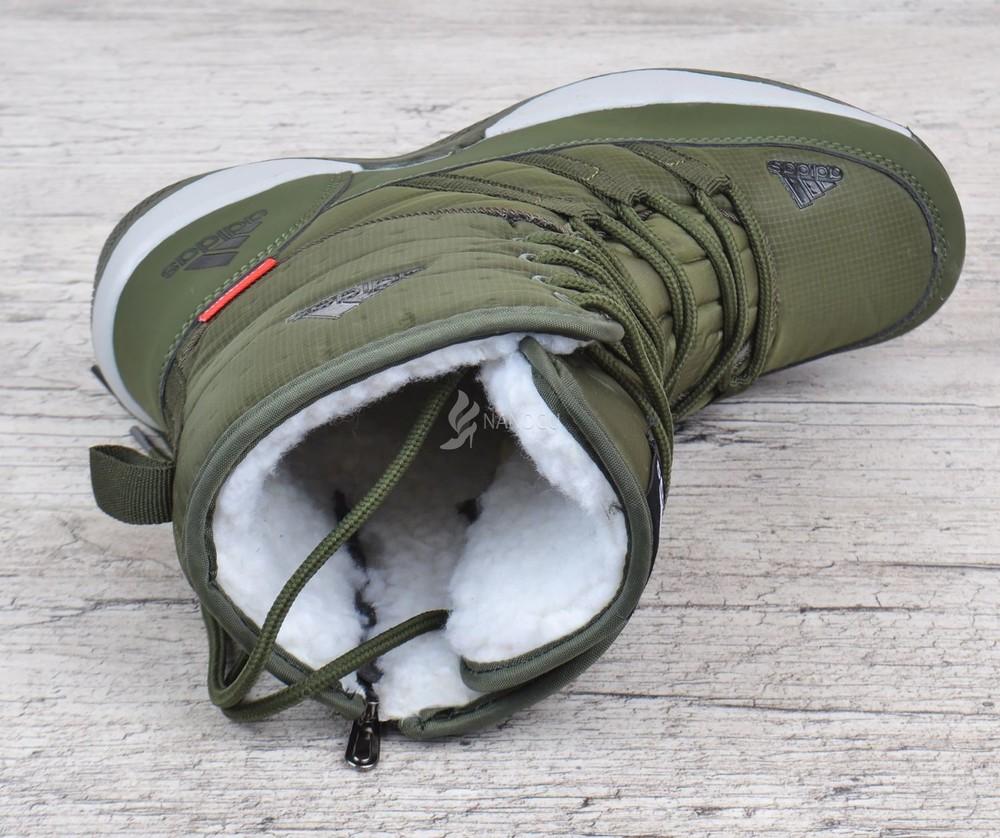 Дутики adidas terrex хаки женские спортивные ботинки на шнуровке фото №4