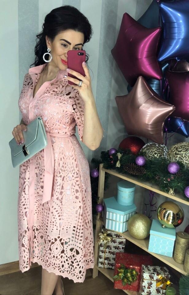 Гипюровое платье на пуговичках фото №1