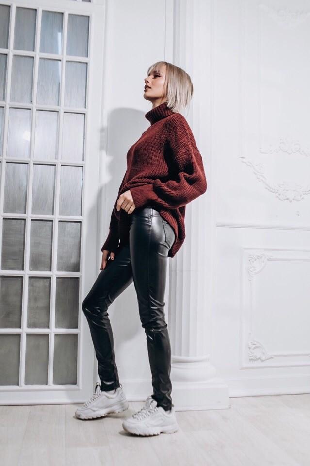 Женский теплый и яркий свитер фото №4