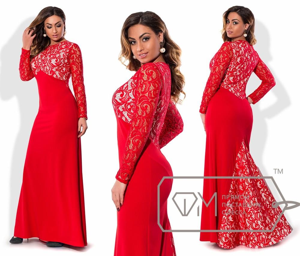 Sale! платье больших размеров от 48 до 54 с кружевом фото №1