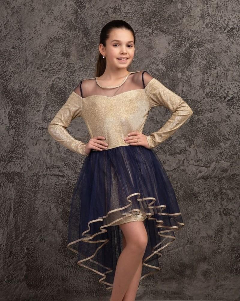 Платье с фатиновой юбкой. фото №1