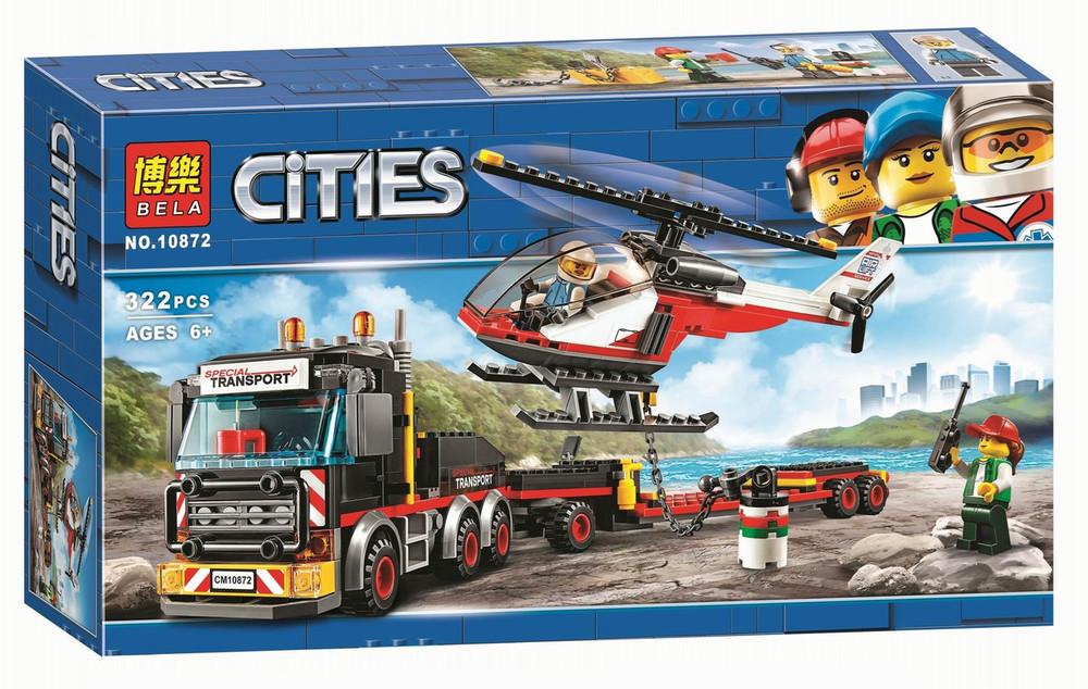 Конструктор bela 10872 cities перевозчик вертолета ,322 дет фото №1
