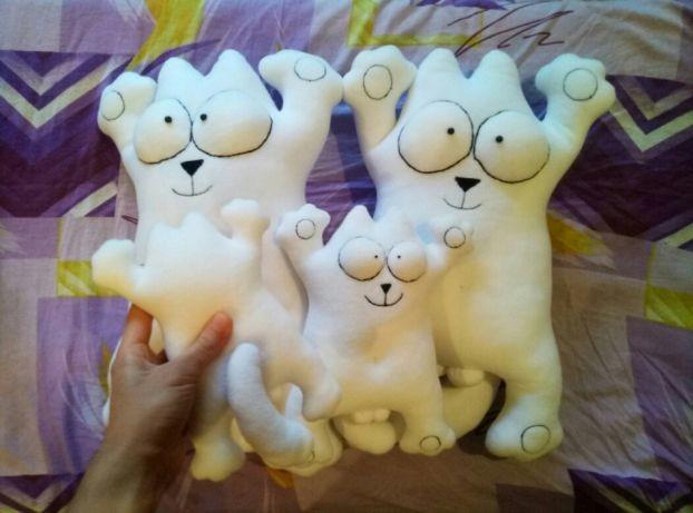 Мягкая игрушка кот саймон simon с яйцами фото №1