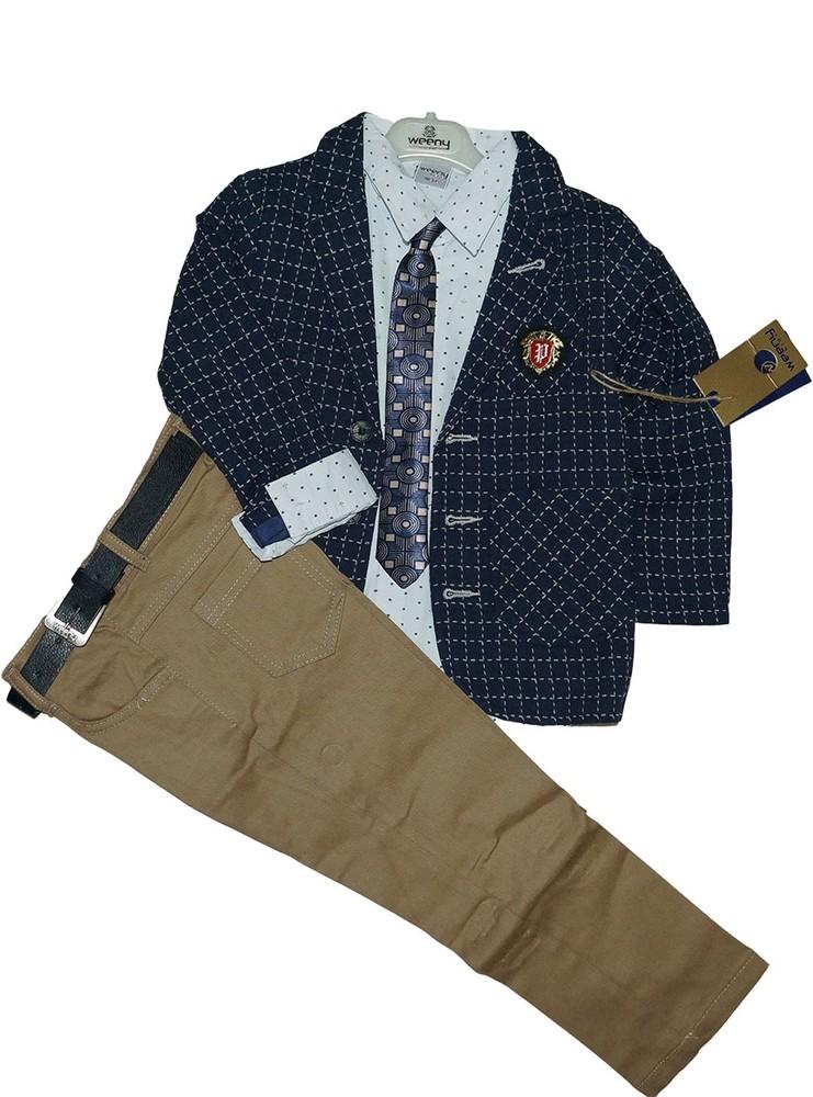 Стильный костюм для мальчика weeny возраст 5-8 лет, турция фото №1