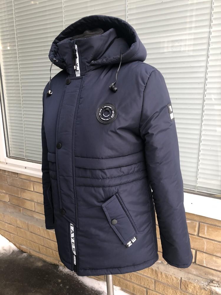 Куртка-парка с наушниками весенняя для мальчика подростка 135-169 рост фото №1