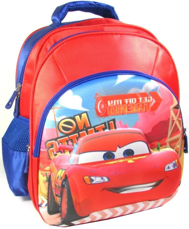 Рюкзак с объёмным 3d изображением для мальчика школьный тачки, маккуин, маквин. объёмное изображение фото №1