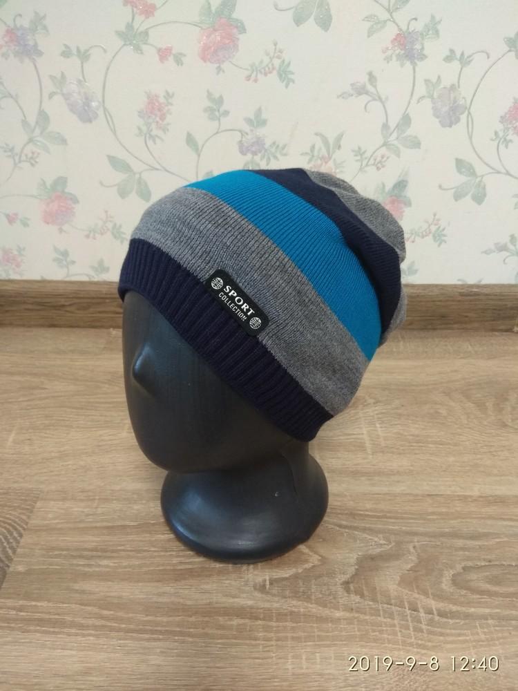 Яркая весенняя шапка для мальчиков 50-54 размер фото №1
