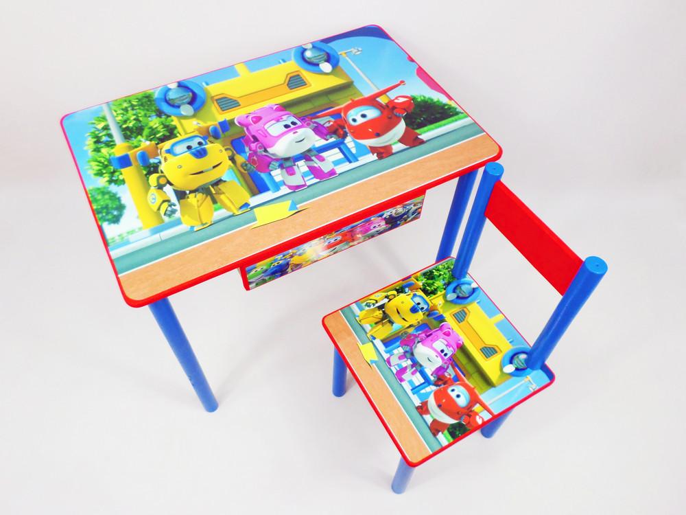 Детский столик и стульчик (столик парта с ящичком) от 2 до 7 лет фото №1