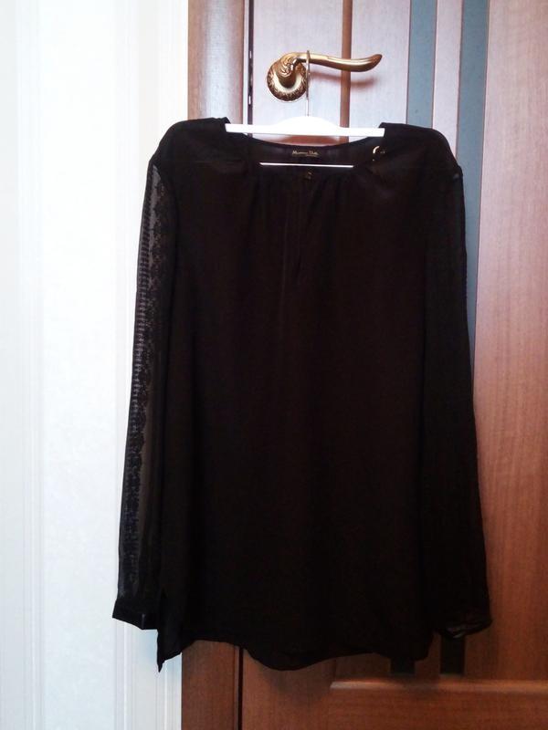 Шёлковая блуза massimo dutti фото №1