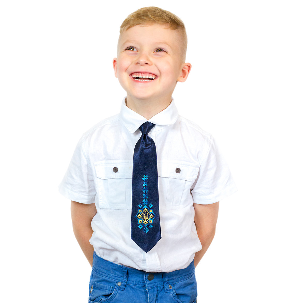 Дитячий галстук з вишивкою малай фото №1