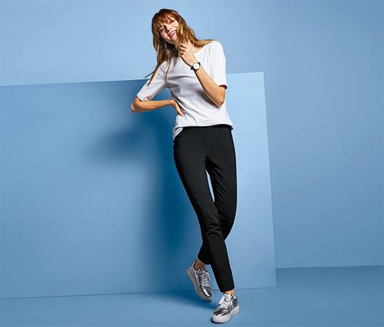 Шикарные эластичные брюки леггинсы до щиколотки тсм чибо. l фото №1