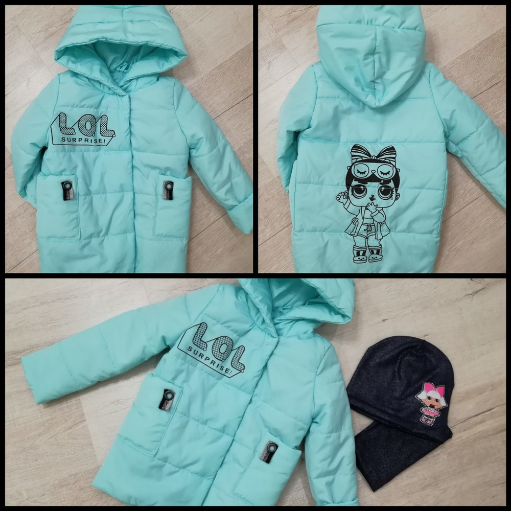 Курточка для девочки лол 104-110р фото №1