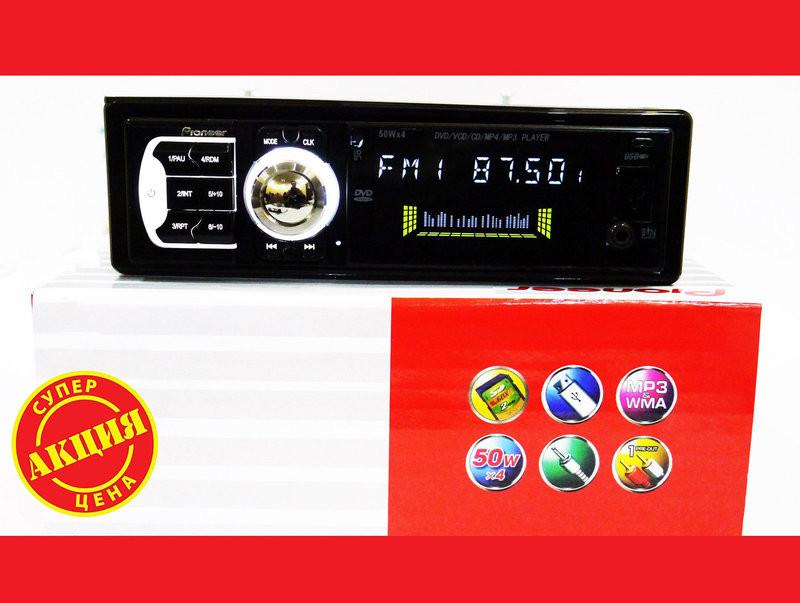 Автомагнитола dvd pioneer 102 usb+sd+mmc съемная панель фото №1