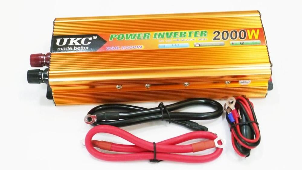 Преобразователь ukc 12v-220v 2000w gold инвертор фото №1