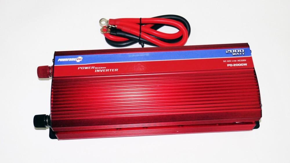 Инвертор 2000w 24v с вольтметром фото №1