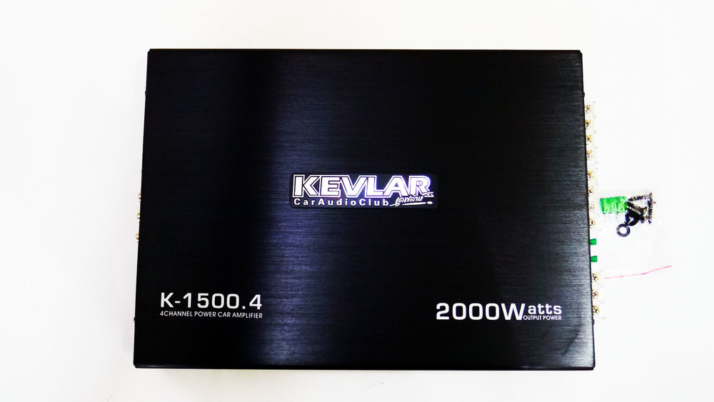 Автомобильный усилитель звука kevlar k-1500.4 2000вт 4-х канальны фото №1