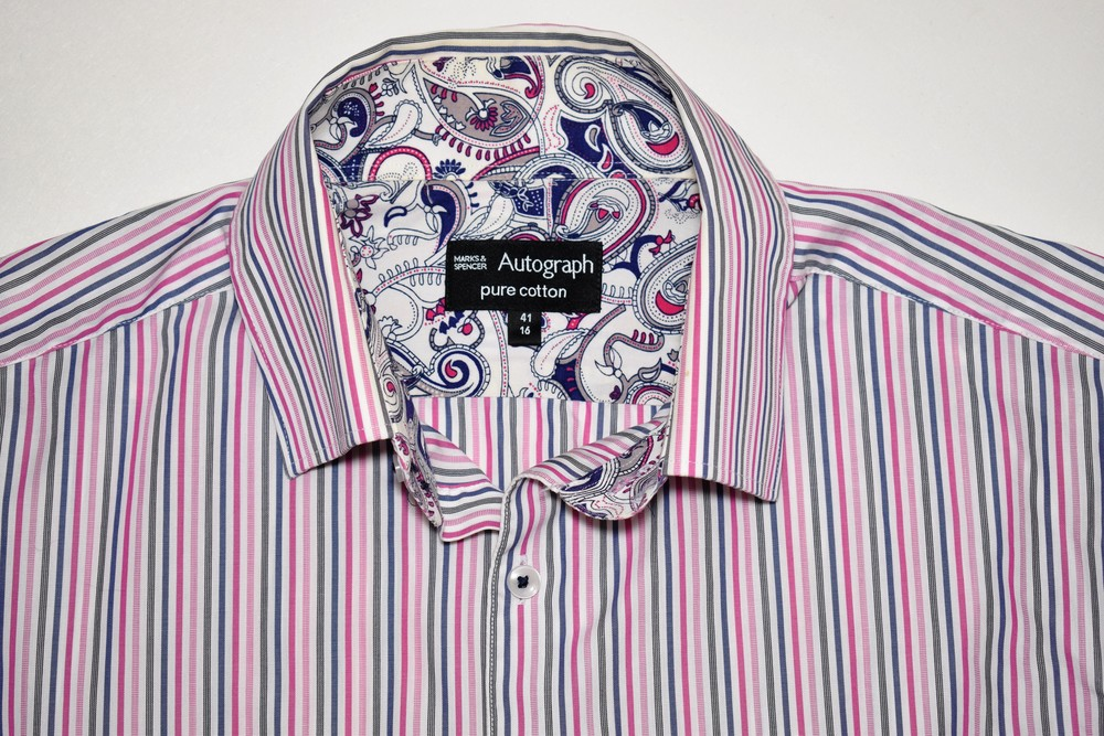 Стильная хлопковая рубашка marks&spencer, размер l фото №1
