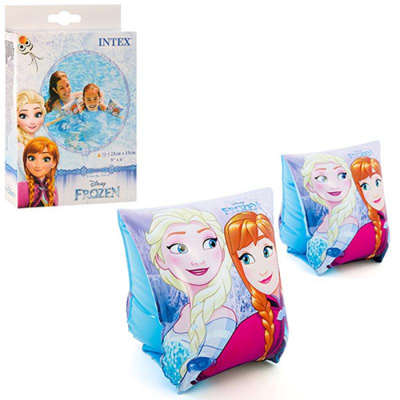 Детские надувные нарукавники для плавания  intex 56640 холодное сердце фото №1