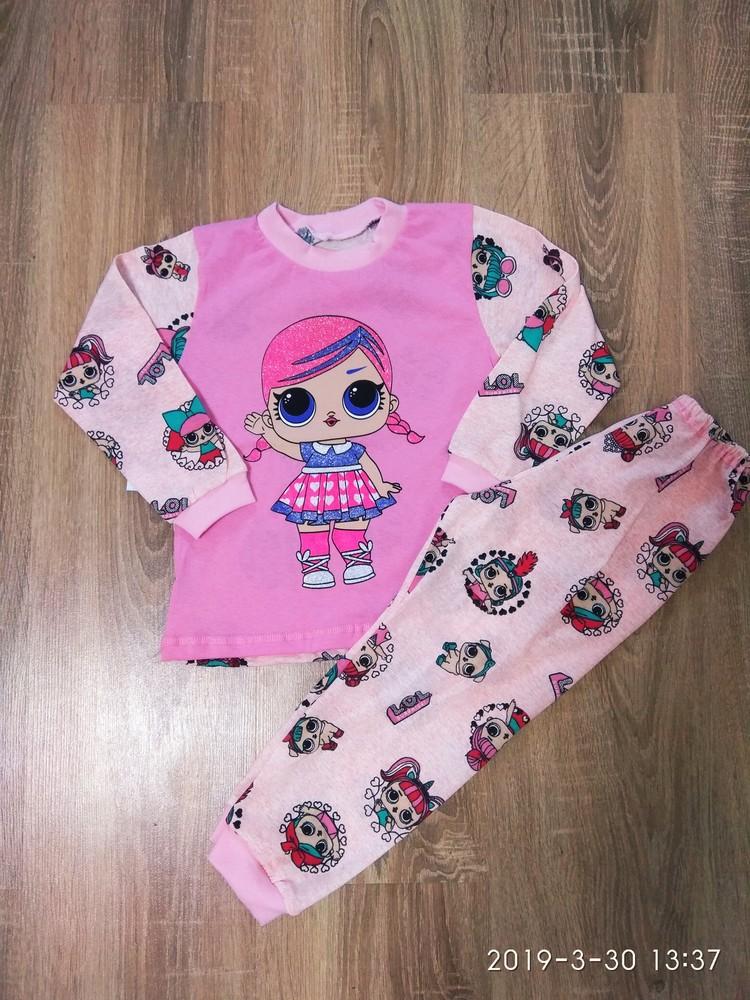 Пижама для девочек с куклой лол 2-7 лет фото №1