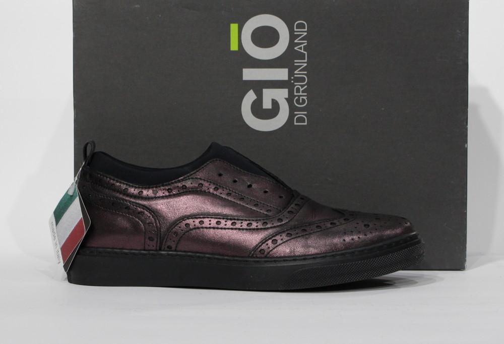 Шкіряні туфельки gio di grunland, італія фото №1