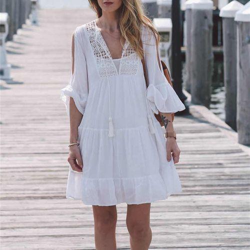 Летняя накидка. пляжный халат. пляжное платье. фото №1