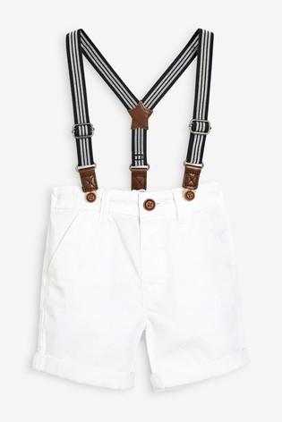 Білі шорти чінос next на підтяжках розм. 0-7 р. під замовлення фото №1