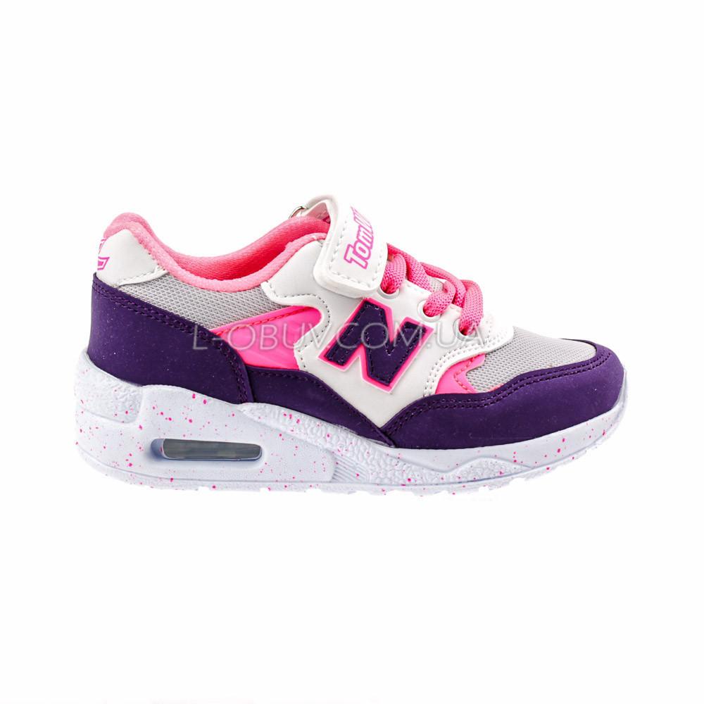 Кроссовки легкие с сеткой фиолетовые детские фото №1