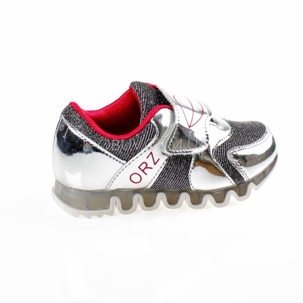Кроссовки с сеткой серебро легкие и яркие фото №1