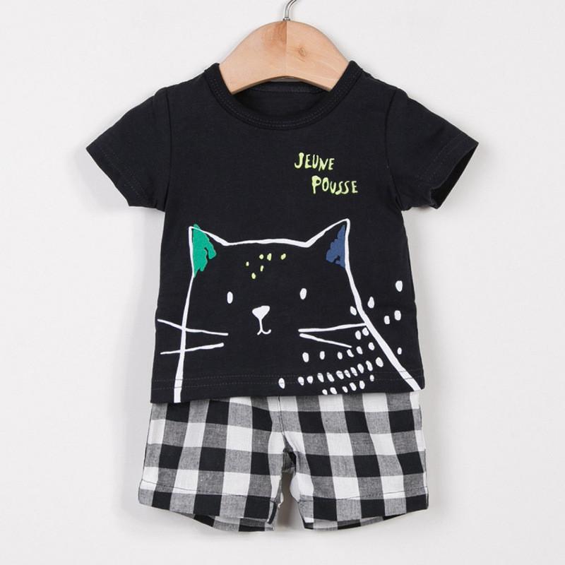 Костюм для мальчика, футболка и шорты. кот. фото №1