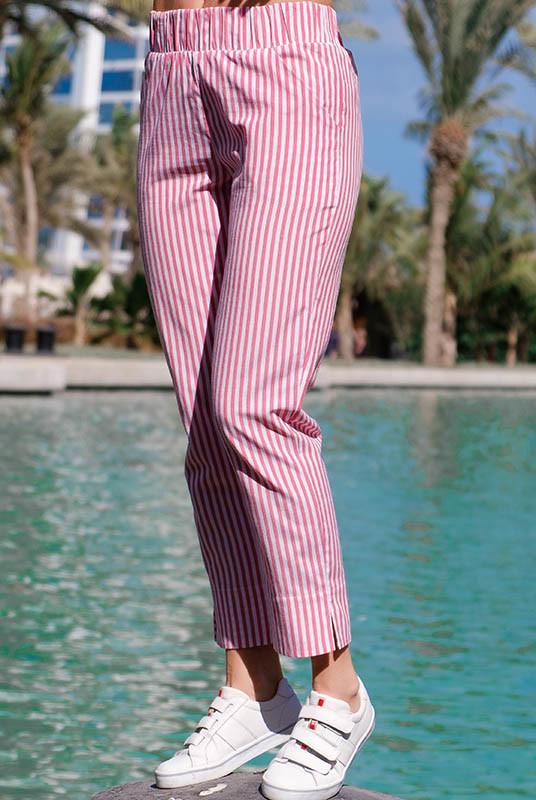 Летние брюки в полоску паула фото №1