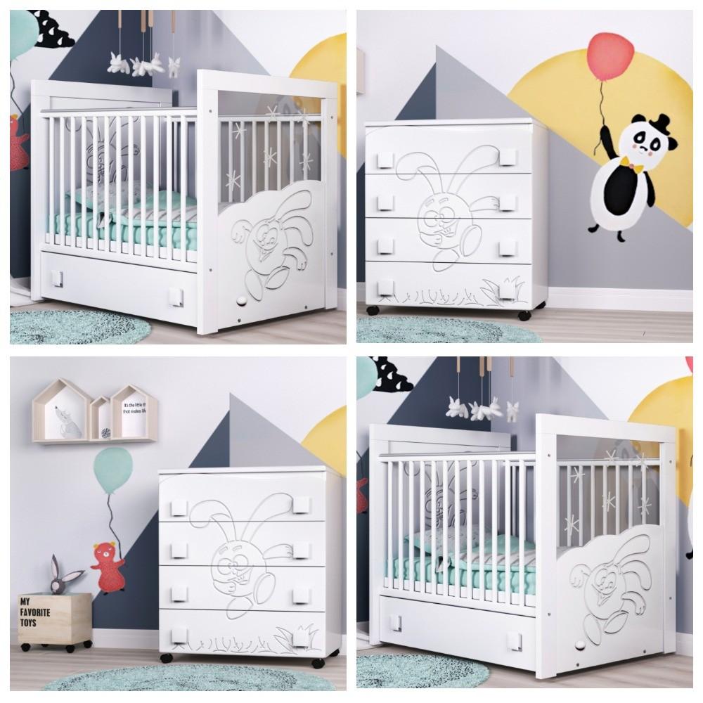 """Кроватка для детей от рождения """"смешарик"""" dresser smesharik + комод фото №1"""