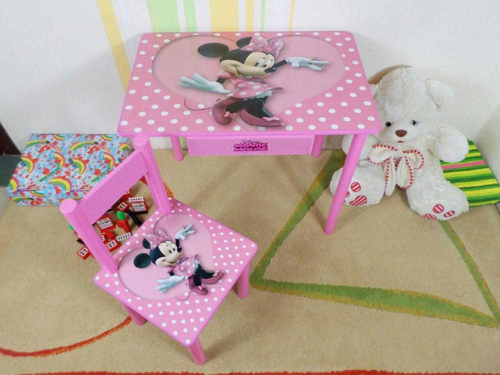 """Столик и стульчик """"минни маус"""" набор мебели от 2 до 7 лет (парта-стол) фото №1"""